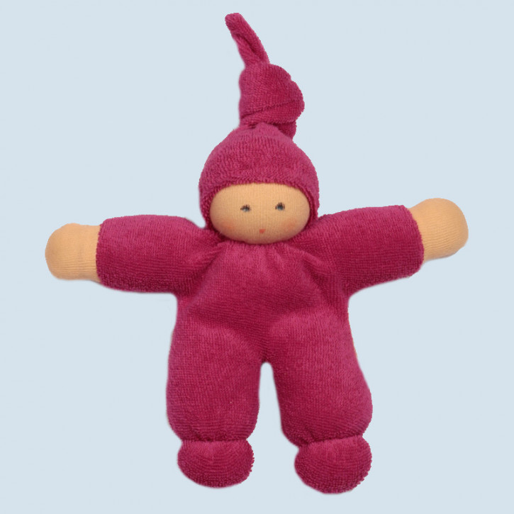 Nanchen Doll - Pimpel - berry, organic cotton, eco