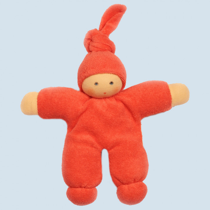 Nanchen eco doll - Pimpel - red, organic cotton
