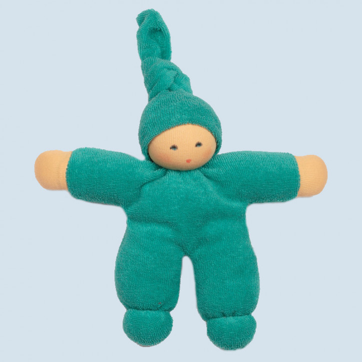 Nanchen eco doll - Pimpel - turquoise, organic cotton
