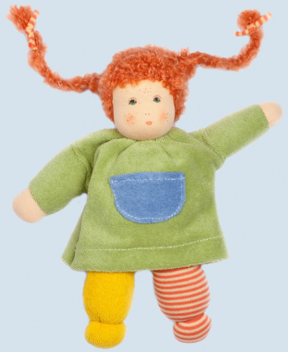 Nanchen doll - Puppi - green, organic cotton, eco