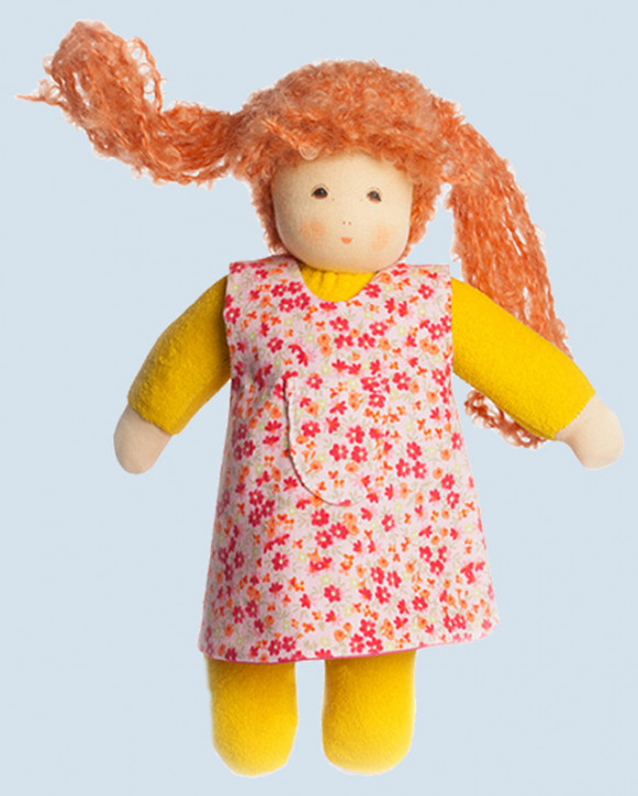 Nanchen doll - Puppina, yellow - organic cotton