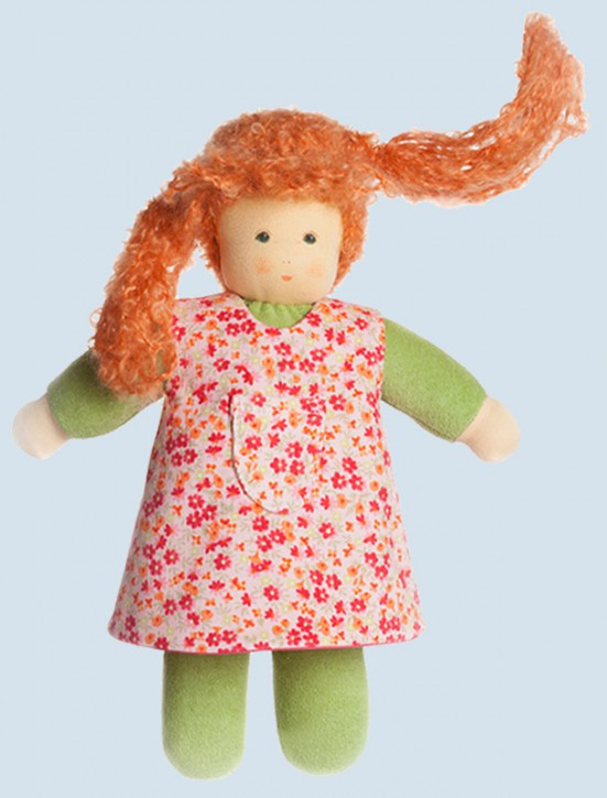 Nanchen doll - Puppina, green - organic cotton