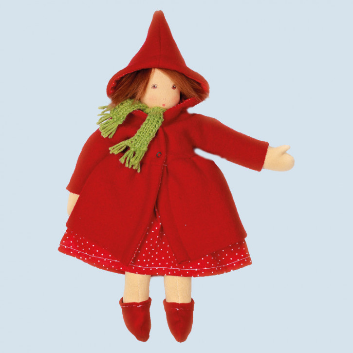 Nanchen doll - Little Red Riding Hood - organic cotton