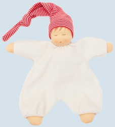 Nanchen eco sleeping doll - baby comforter - red, organic cotton