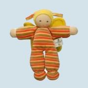 Nanchen - organic soft toy - butterfly, orange, eco