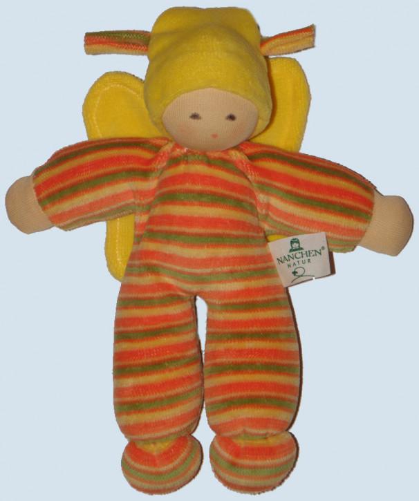 Nanchen Puppe - Schmetterling - gelb, Bio Baumwolle, öko