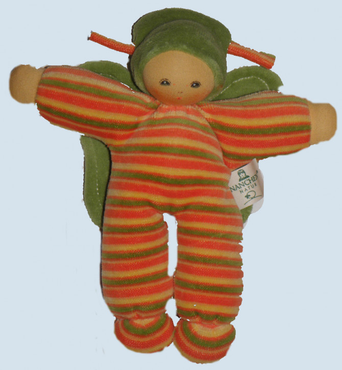 Nanchen - organic soft toy - butterfly, green, eco