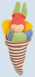 Nanchen Puppe - Schmetterling bunt - Bio Baumwolle