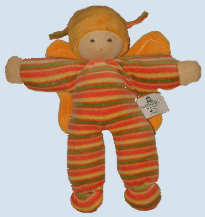 Nanchen - organic soft toy - butterfly, orange, eco