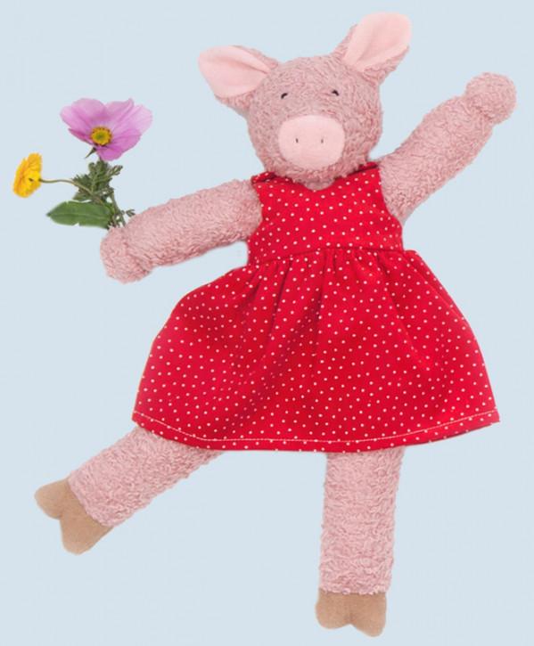 Nanchen organic doll - pig Julchen - pink, organic cotton