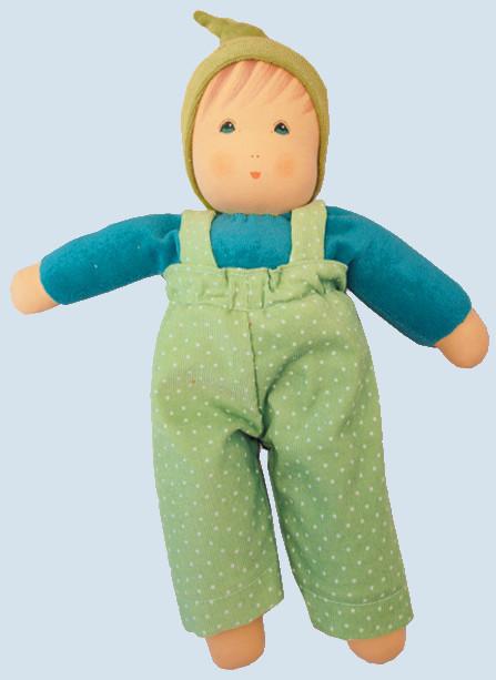 Nanchen Puppe - Sommerbub Jakob - grün, Bio Baumwolle, öko