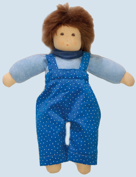 Nanchen Puppe - Sommerkind Johannes - blau, Bio Baumwolle, öko
