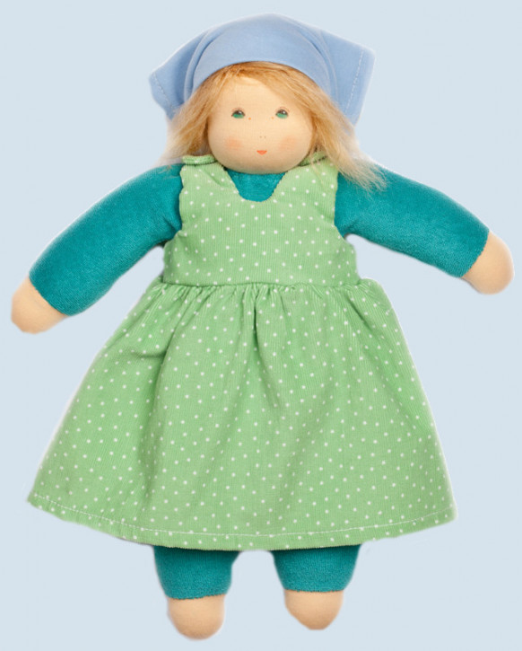 Nanchen eco doll - summer child Lotti - green, organic cotton