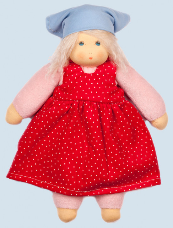 Nanchen eco doll - summer child Lotti - red, organic cotton