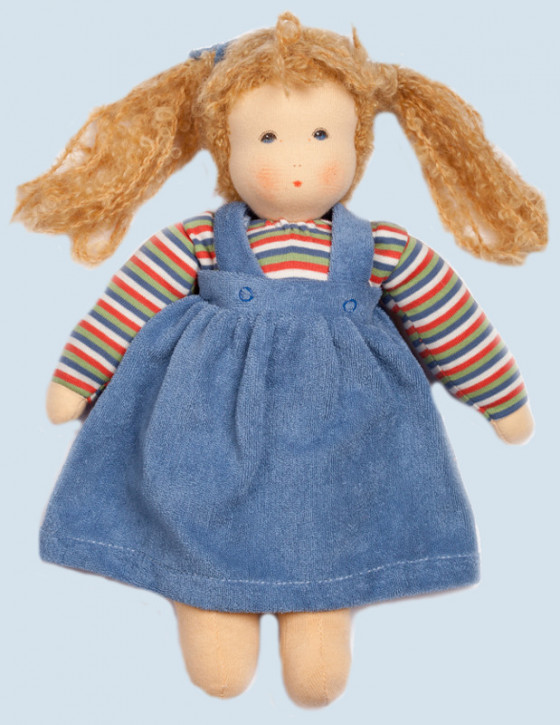 Nanchen doll - Wolke with skirt - blue, organic cotton, eco