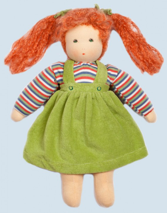 Nanchen doll - Wolke with skirt - green, organic cotton, eco