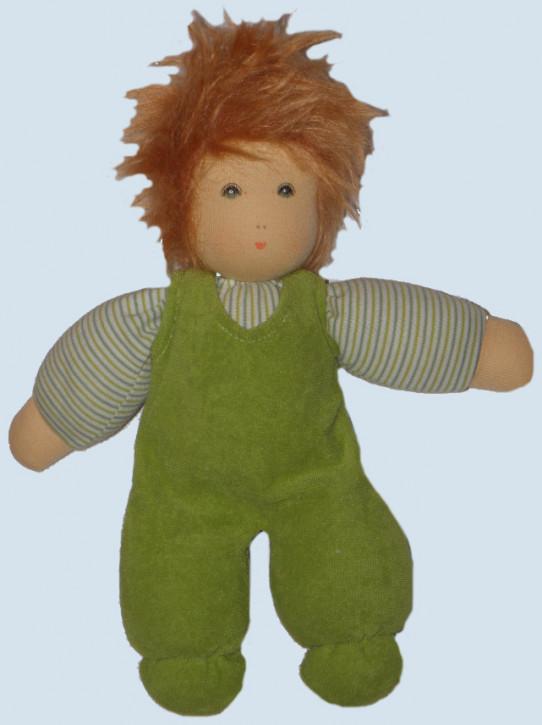 Nanchen Puppe - Wuschel mit Haaren - grün, Bio Baumwolle, öko