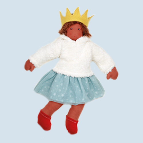 Nanchen organic doll - Ice princess, cotton organic