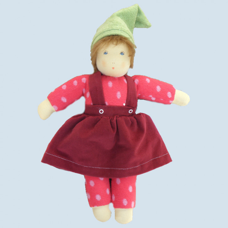 Nanchen organic doll - Ronja - red, cotton