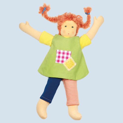 Nanchen doll - Püppi, green - organic cotton, eco
