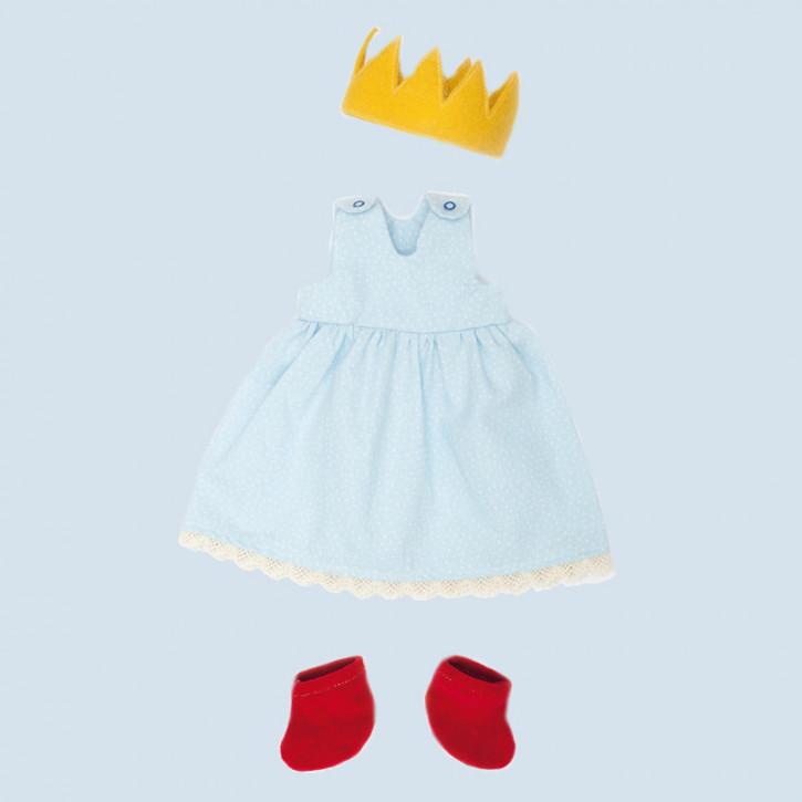 Nanchen - organic doll clothing - Princess, blue, organic cotton