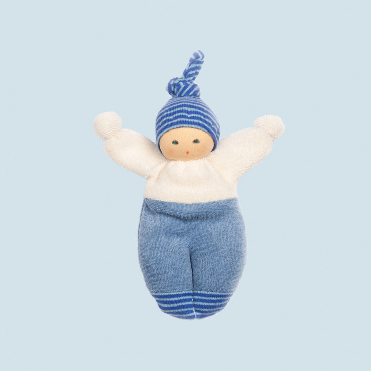 Nanchen - organic soft doll - Liese - blue
