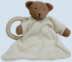 Nanchen doll - comforter bear, teddy - wooden ring, organic cotton