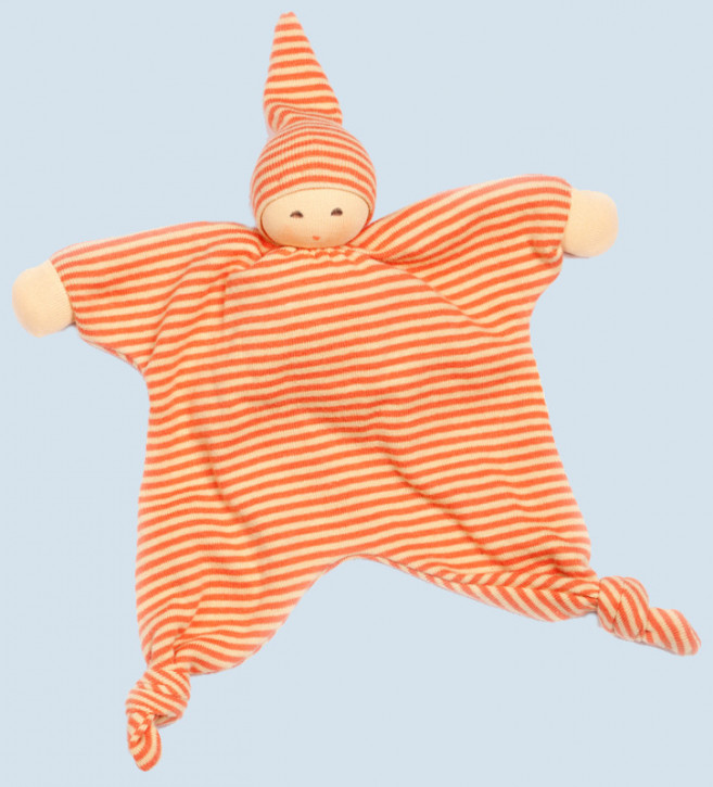 Nanchen - blanket doll - sun - organic cotton - orange striped