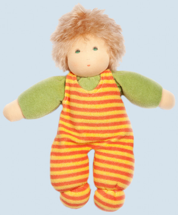 Nanchen Doll - sunshine - green - organic cotton, eco