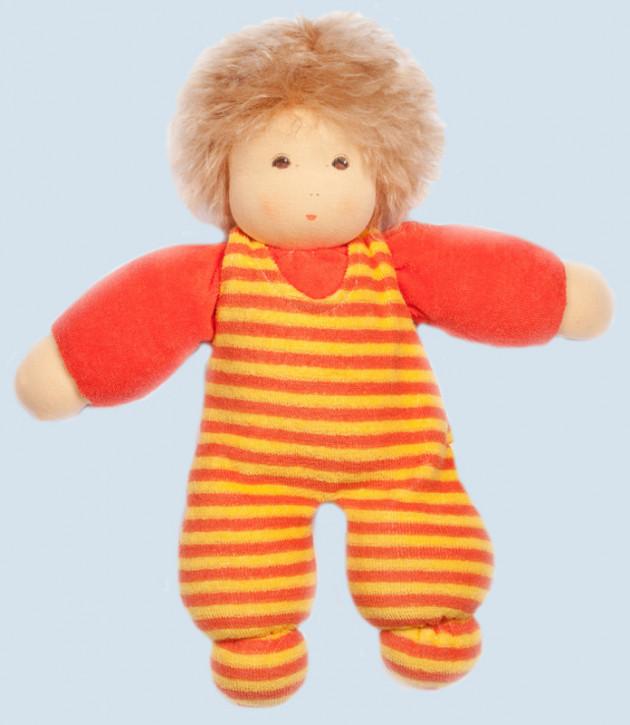 Nanchen Puppe - Sonnenschein mit Haaren - rot, Bio Baumwolle, öko