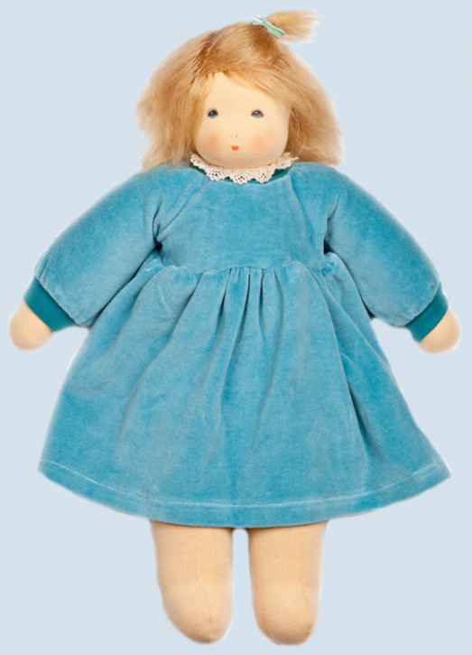 Nanchen doll - Wonne child Sophie, turquoise - organic cotton