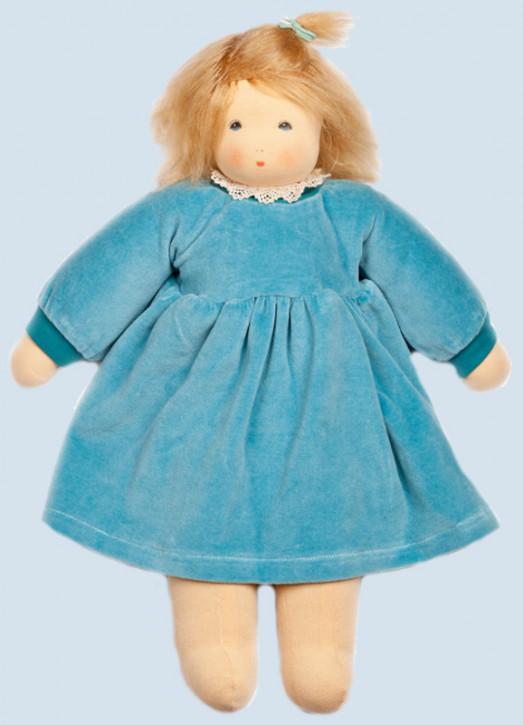 Nanchen Puppe - Wonnekind Sophie - türkis, Bio Baumwolle, öko