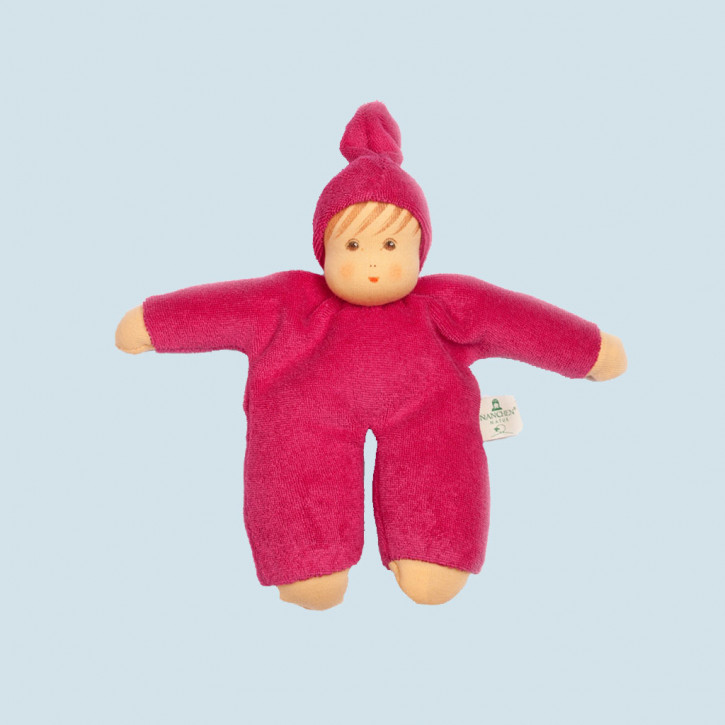 Nanchen eco doll - Schmuse - berry, organic cotton