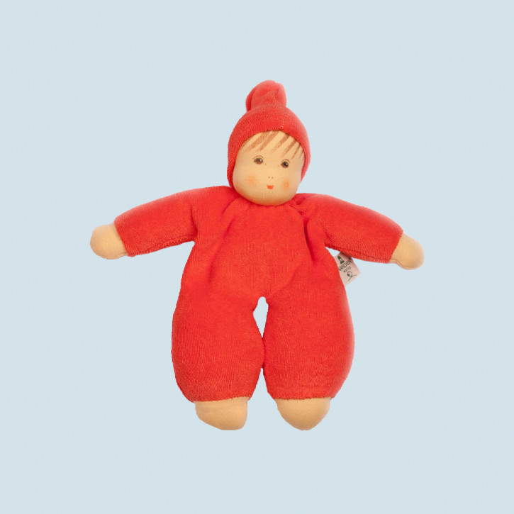 Nanchen eco doll - Schmuse - red, organic cotton