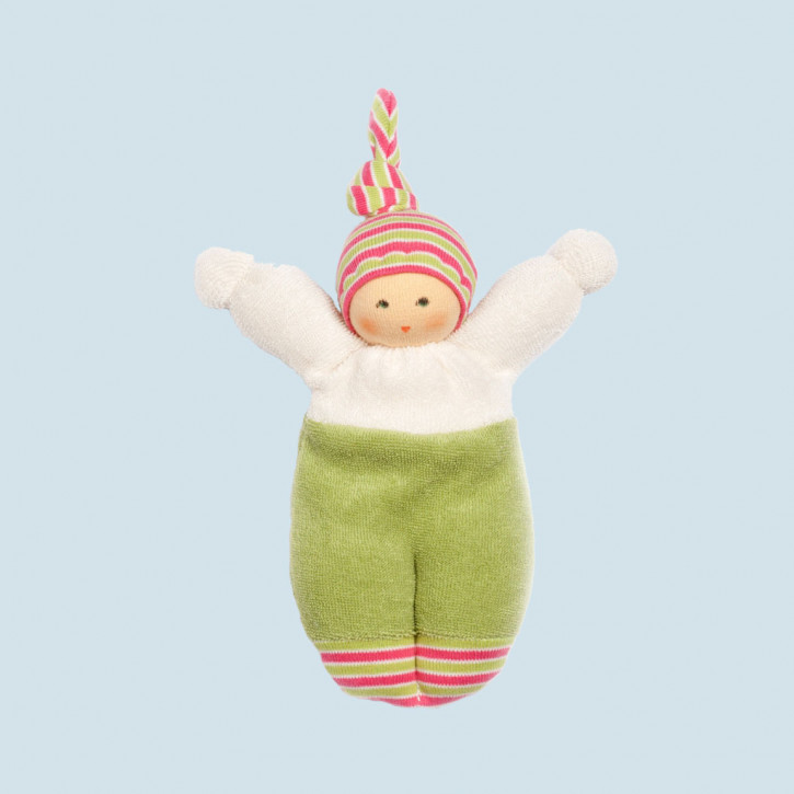 Nanchen organic soft doll - Liese - green, eco