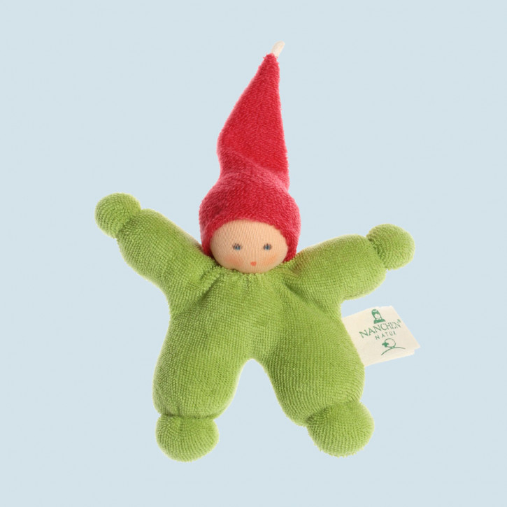 Nanchen organic doll - Gnome - green, eco