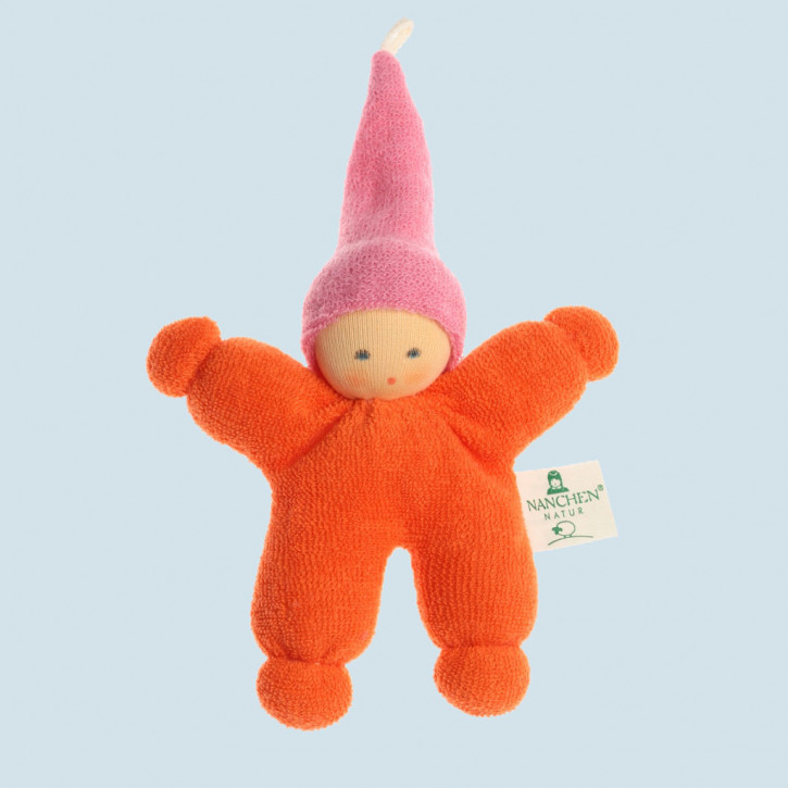 Nanchen organic doll - Gnome - orange, eco