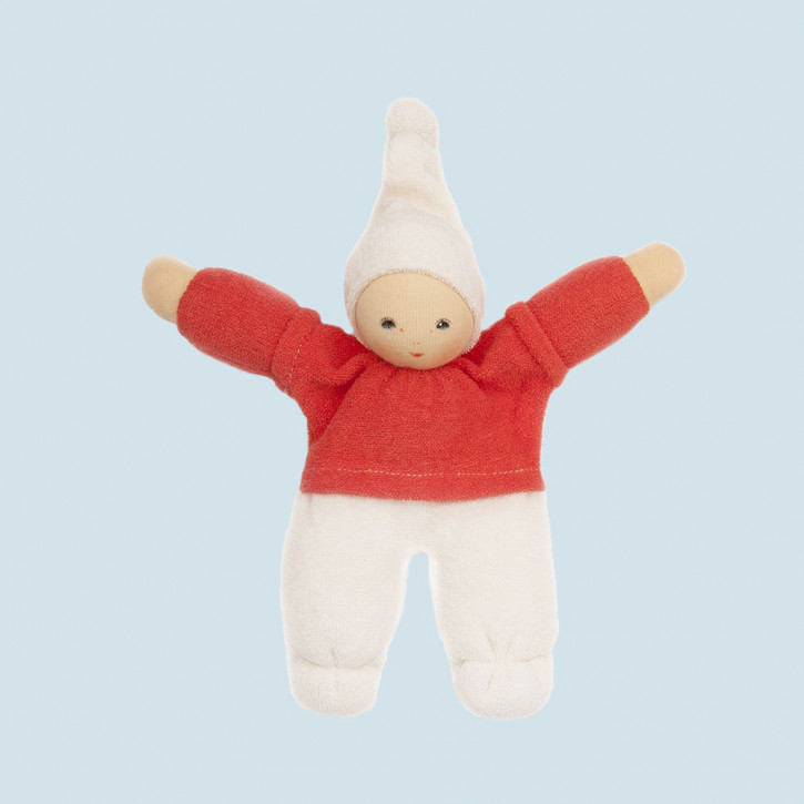 Nanchen Doll - Zausel - red, organic cotton, eco