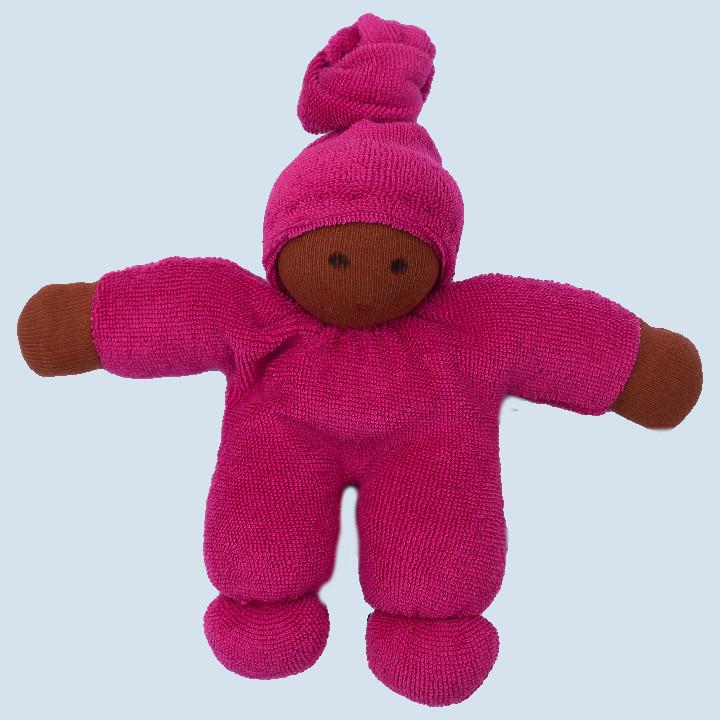 Nanchen Puppe - Schmusepuppe Pimpel - beere, Bio Baumwolle
