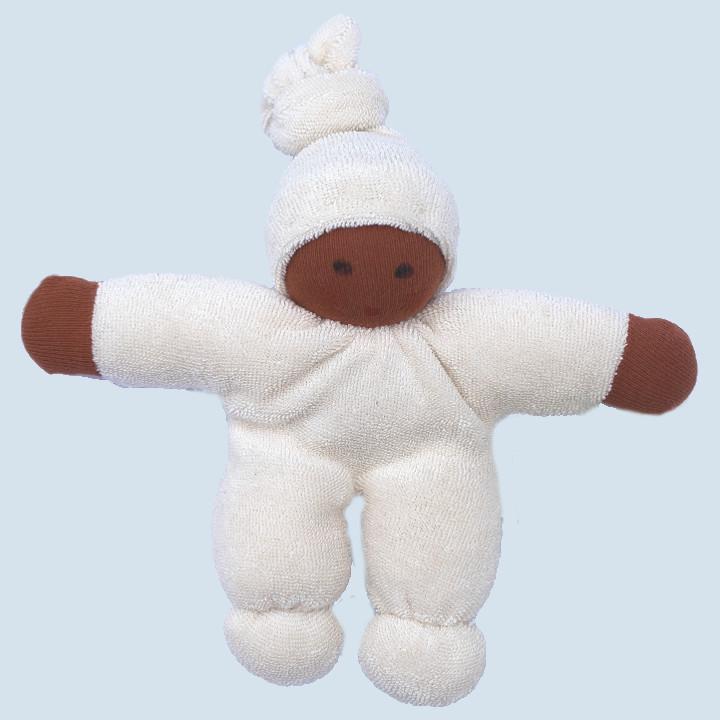 Nanchen Puppe - Schmusepuppe Pimpel - weiß, Bio Baumwolle
