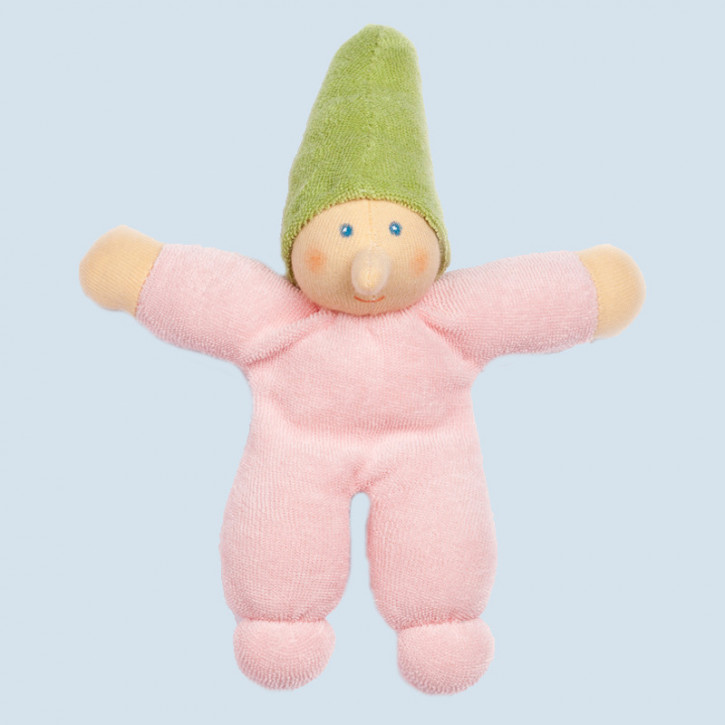 Nanchen Doll - little Dwarf - pink, organic cotton, eco