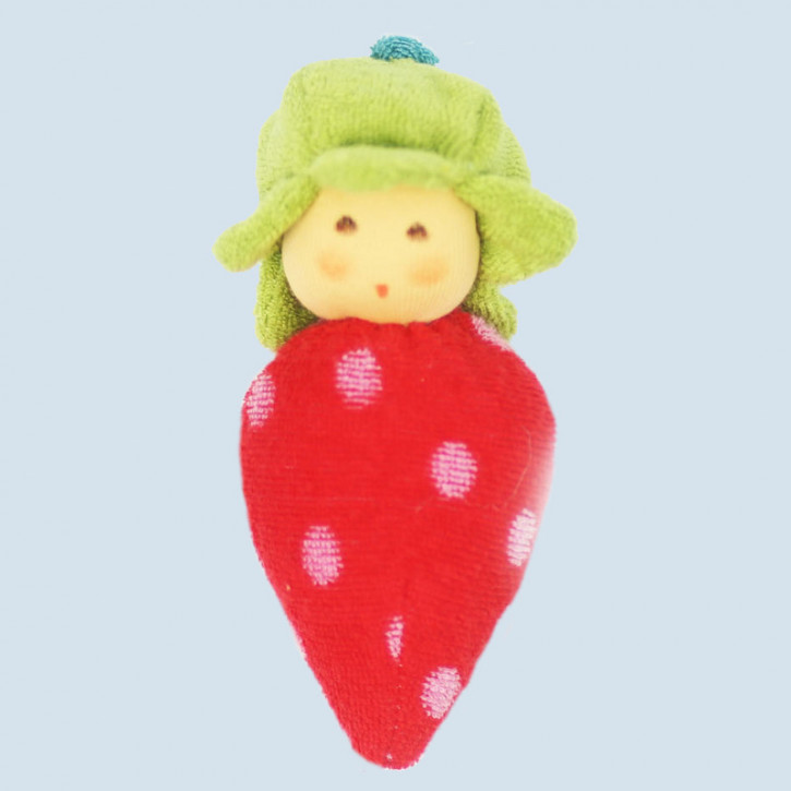 Nanchen organic doll - strawberry - red, cotton