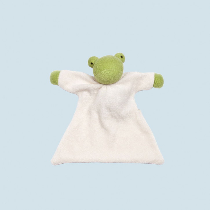 Nanchen Puppe - Nuckeltuch Frosch - Bio Baumwolle, öko