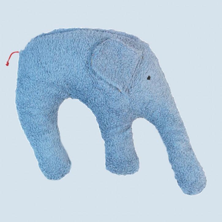 Pat & Patty Kuschelkissen Elefant - Baumwolle, Bio - blau