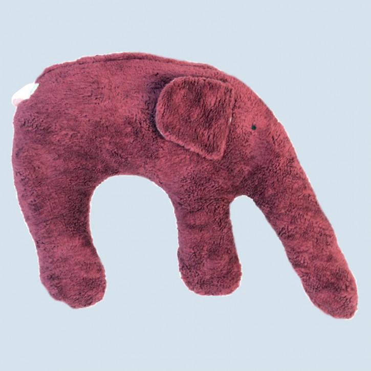 Pat & Patty Kuschelkissen Elefant - Baumwolle, Bio - brombeer