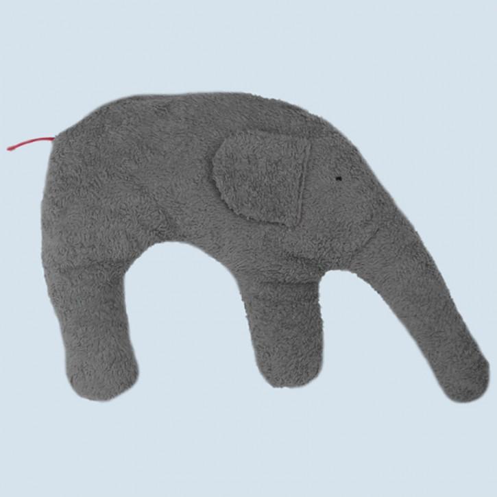 Pat & Patty Kuschelkissen Elefant - Baumwolle, Bio - grau