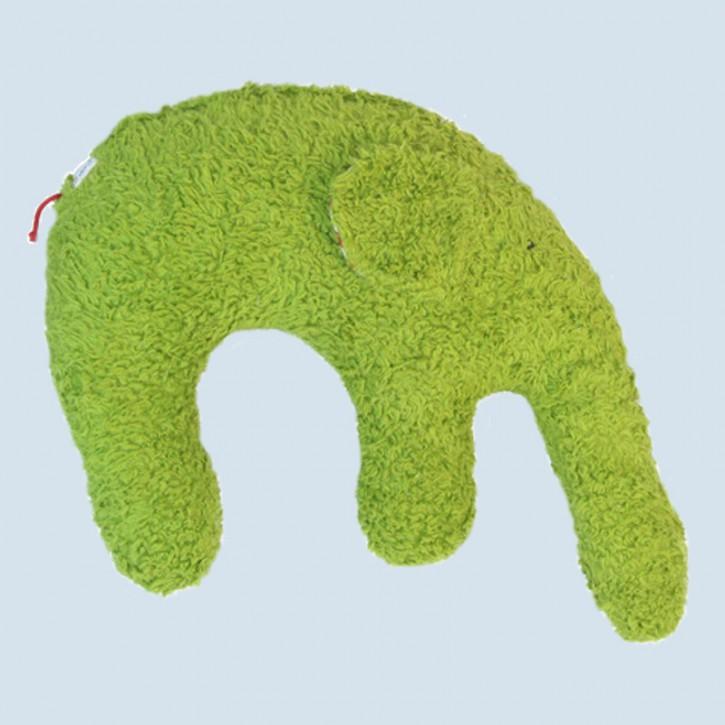 Pat & Patty Kuschelkissen Elefant - Baumwolle, Bio - grün