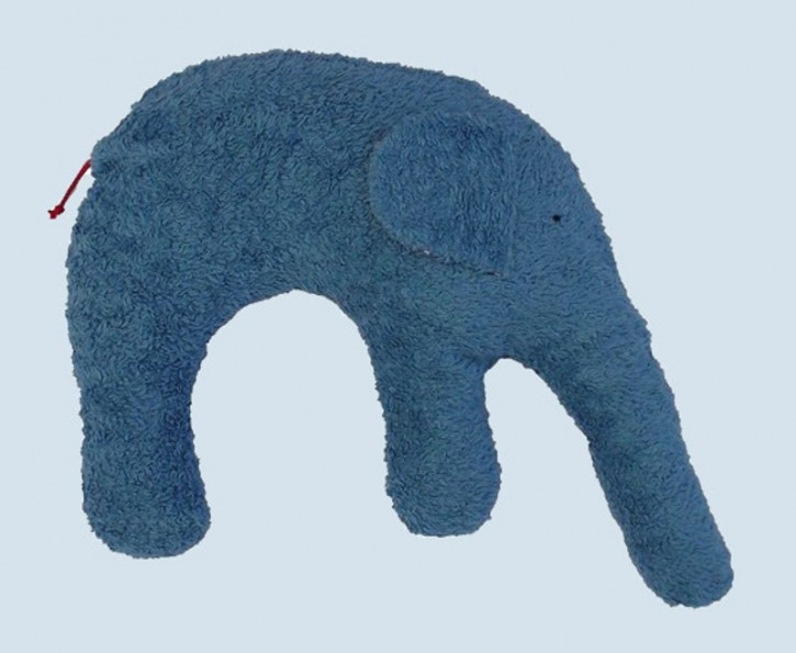 Pat & Patty Kuschelkissen Elefant - Baumwolle, Bio - petrol