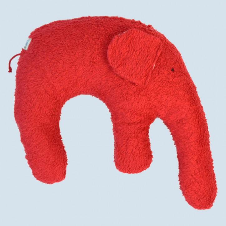 Pat & Patty Kuschelkissen Elefant - Baumwolle, Bio - rot
