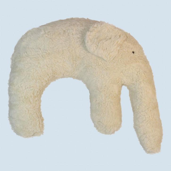 Pat & Patty Kuschelkissen Elefant - Baumwolle, Bio - weiß